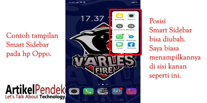 Smart Sidebar Hp Oppo