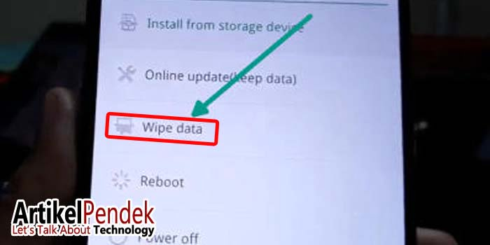 Menu Wipe Data Hp Oppo
